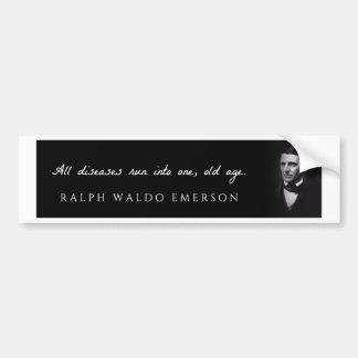 Ralph Waldo Emerson - alle Krankheiten laufen Autoaufkleber