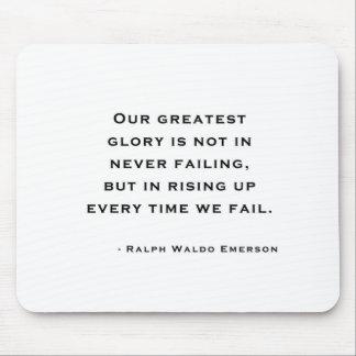Ralph Waldo Emerson - Motivations-Zitat Mauspad
