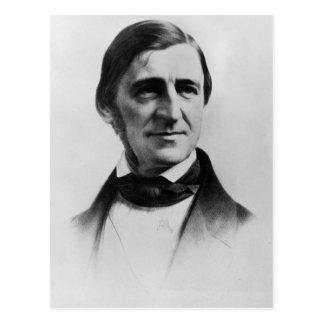 Ralph Waldo Emerson-Porträt Postkarte