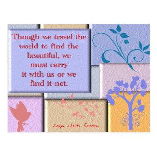 Ralph Waldo Emerson Postkarte