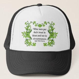 Ralph Waldo Emerson-Zitat - weise Männer Truckerkappe