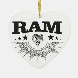 RAM des schwarzen Sternes Keramik Ornament
