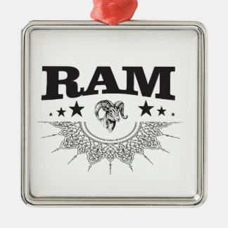 RAM des schwarzen Sternes Silbernes Ornament