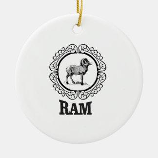 RAM-Krieger Keramik Ornament
