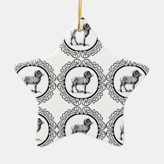 RAM-Ringe verbunden Keramik Ornament