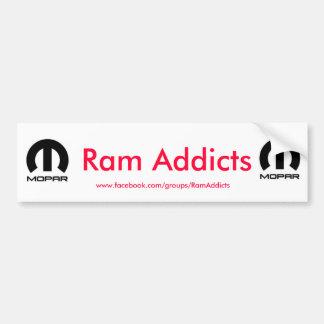 RAM-Süchtige Autoaufkleber