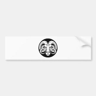 RAM-Widder-Tierkreis-Zeichen Autoaufkleber