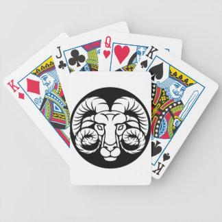 RAM-Widder-Tierkreis-Zeichen Bicycle Spielkarten