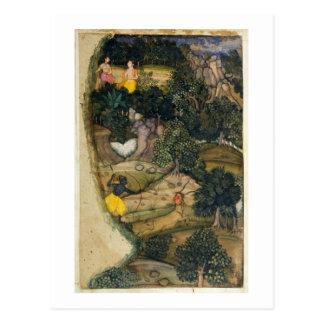 """Rama, welches die goldenen Rotwild, vom """"Ramayana"""" Postkarte"""