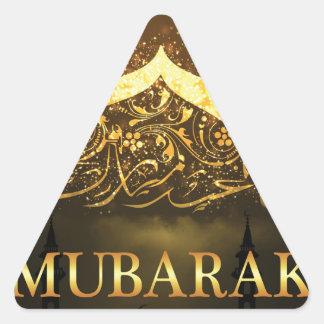 Ramadan-Al Adha und Fiter Dreieckiger Aufkleber