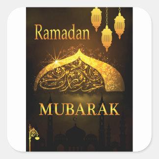 Ramadan-Al Adha und Fiter Quadratischer Aufkleber