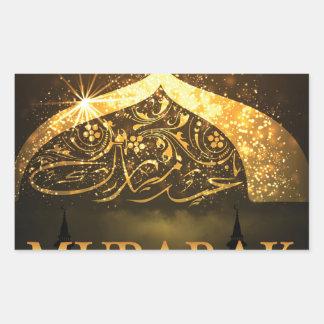 Ramadan-Al Adha und Fiter Rechteckiger Aufkleber
