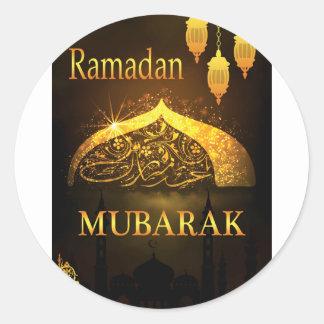 Ramadan-Al Adha und Fiter Runder Aufkleber