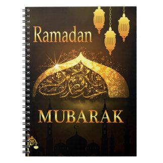 Ramadan-Al Adha und Fiter Spiral Notizblock