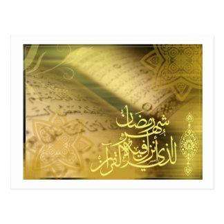 Ramadan: Der Monat von Quran Postkarte