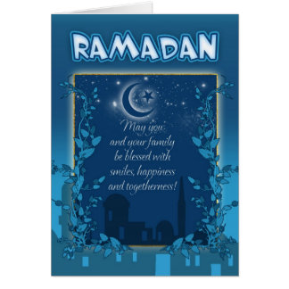 Ramadan-Karten-Blau Karte