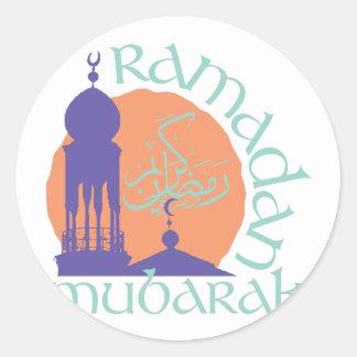 Ramadan Mubarak Runder Aufkleber