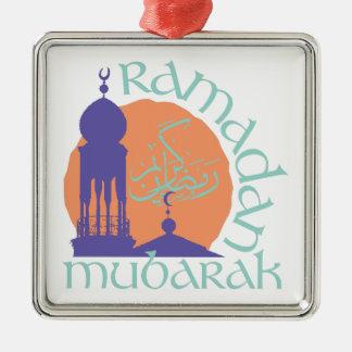Ramadan Mubarak Silbernes Ornament
