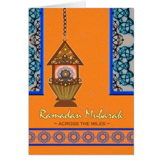 Ramadan Mubarak, über den Meilen, Fanoos Laterne Karte