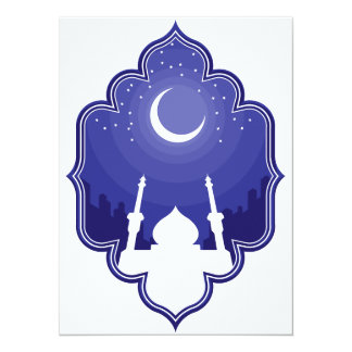 Ramadan u. Gruß Eid al-Fitrs Mubarak 14 X 19,5 Cm Einladungskarte