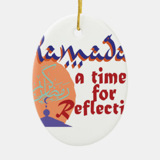 Ramadan-Zeit für Reflexion Keramik Ornament