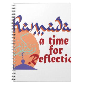 Ramadan-Zeit für Reflexion Notizblock