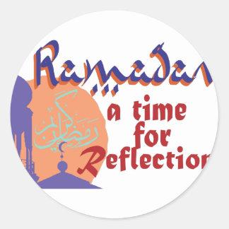 Ramadan-Zeit für Reflexion Runder Aufkleber