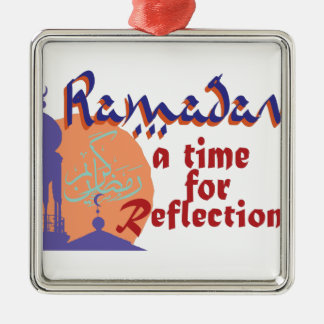 Ramadan-Zeit für Reflexion Silbernes Ornament
