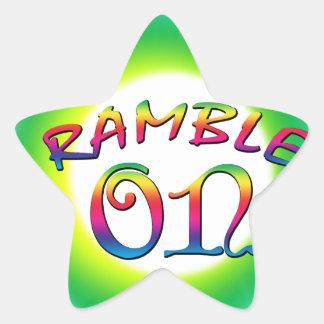 Ramble an Stern-Aufkleber