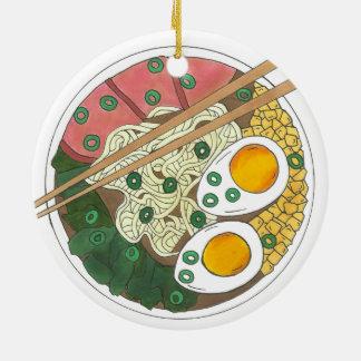 Ramen-Nudel-Schüssel-japanischer Keramik Ornament