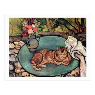 Raminou mit Gartennelken durch Suzanne Valadon Postkarte