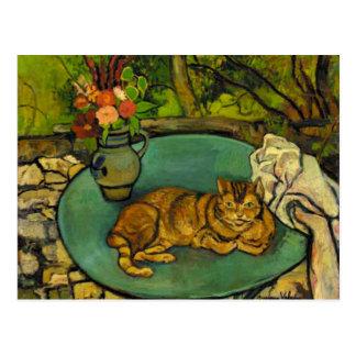 Raminou und Krug mit Gartennelken Postkarte