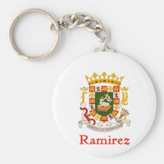 Ramírez-Schild von Puerto Rico Schlüsselanhänger