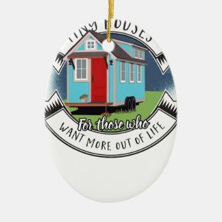 Ramon - kleines Haus Ovales Keramik Ornament