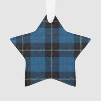 Ramsay blaue Tartan-Stern-Verzierung Ornament