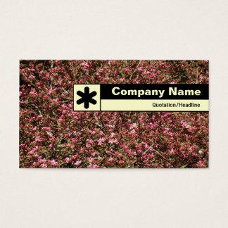 Rand beschriftet - Kirschblüte 02 Visitenkarte