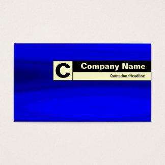 Rand beschriftetes Monogramm - blaue Galaxie Visitenkarte