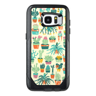 Rand-Fall Kaktus-Blumen-Muster-Samsungs-Galaxie-S7