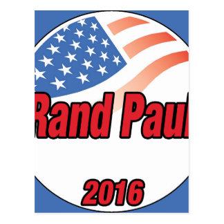 Rand Paul für Präsidenten im Jahre 2016 Postkarte