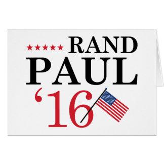 Rand Paul für Präsidenten Karte
