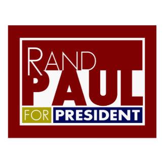 Rand Paul für Präsidenten V1 Postkarte