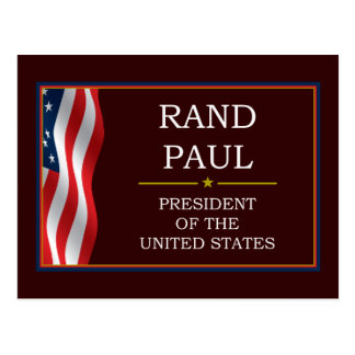 Rand Paul für Präsidenten V3 Postkarte