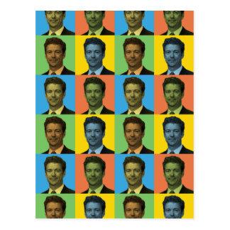 Rand-Paul-Pop-Art Postkarte