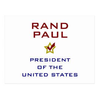 Rand-Paul-Präsident USA V2 Postkarte