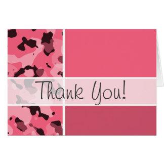 Rand-rosa Camouflage; Personalisiert Karte