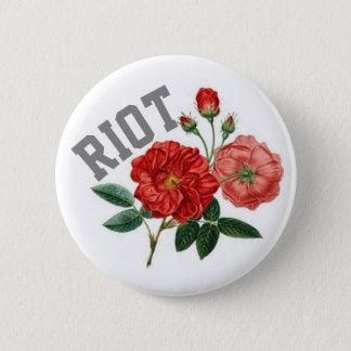 Randalieren Sie mit Rosen-Standard, 2 ¼ Runder Button 5,7 Cm
