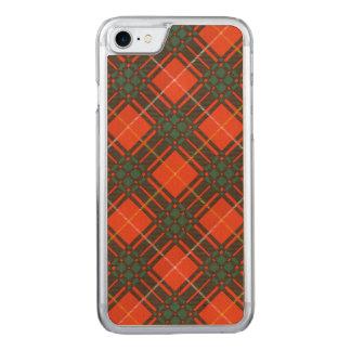 Randolph-Clan karierter schottischer Kilt Tartan Carved iPhone 8/7 Hülle