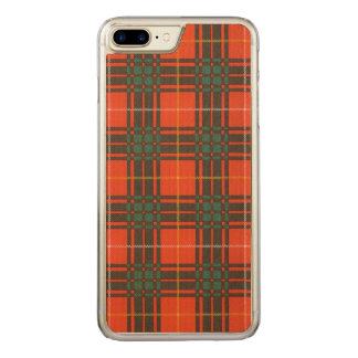 Randolph-Clan karierter schottischer Kilt Tartan Carved iPhone 8 Plus/7 Plus Hülle