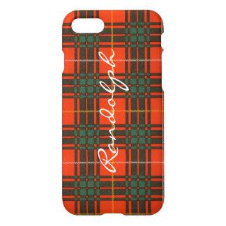 Randolph-Clan karierter schottischer Kilt Tartan iPhone 8/7 Hülle