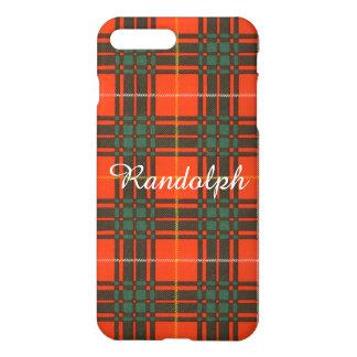 Randolph-Clan karierter schottischer Kilt Tartan iPhone 8 Plus/7 Plus Hülle